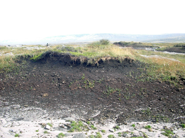 Eroding peat at Sun End