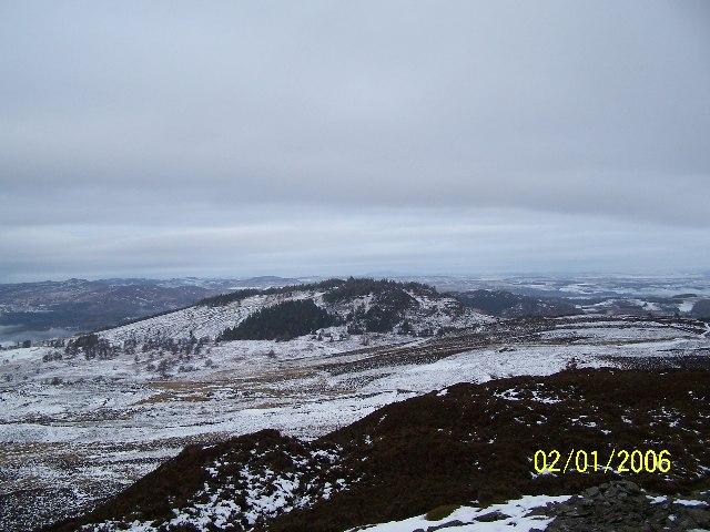 Birnam Hill from Obney Hill