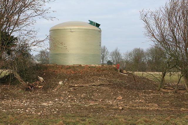 Agricultural reservoir near Corhampton Lane Farm