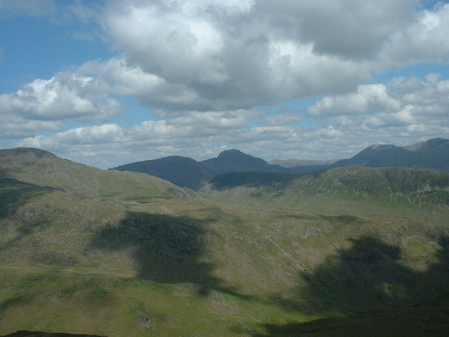 Great Gable and Kirk Fell from the slopes of Seatallan