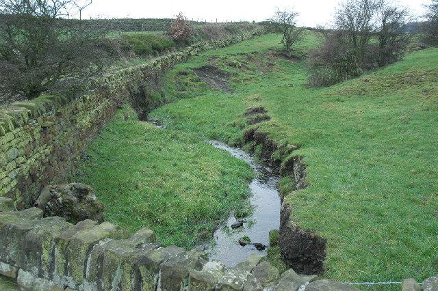 Stream and bridlepath near Upper Cumberworth