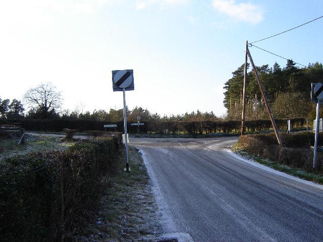 Three Ways junction near Dockenfield