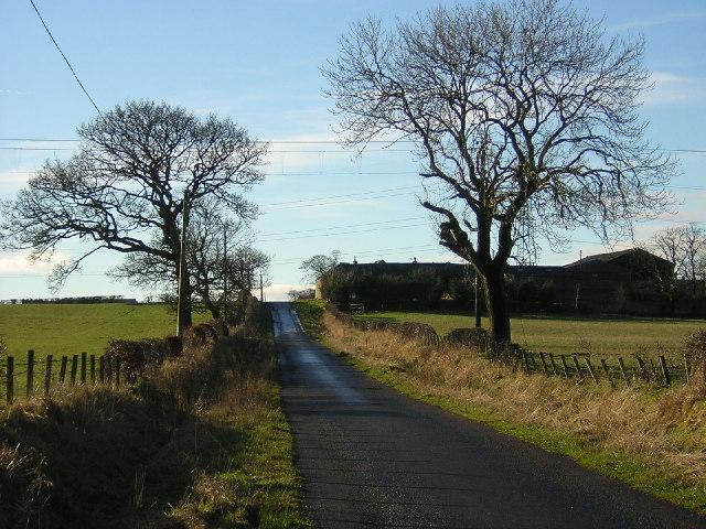 Road to Burnhead Farm Passing Haspielaw
