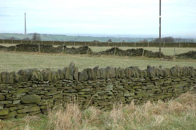 Drystone walls near Birds Edge