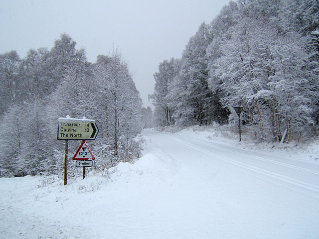 Junction on B846 to Trinafour