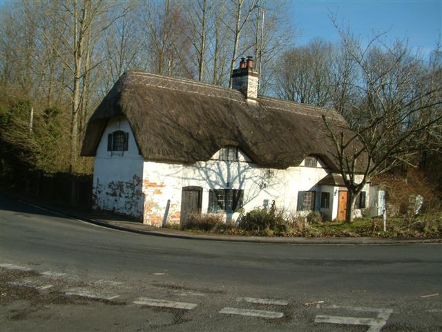 Cottages at the bottom of Furze Hill