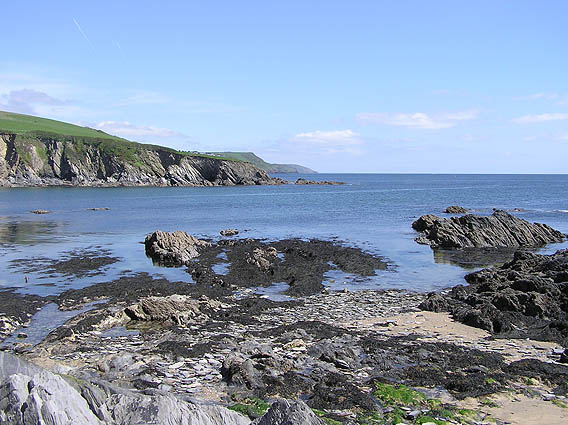 Polridmouth Bay looking east