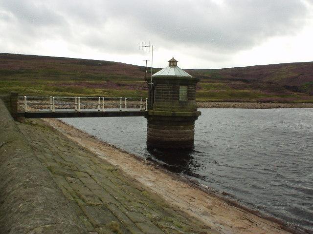 Outlet tower, Gorple Upper Reservoir