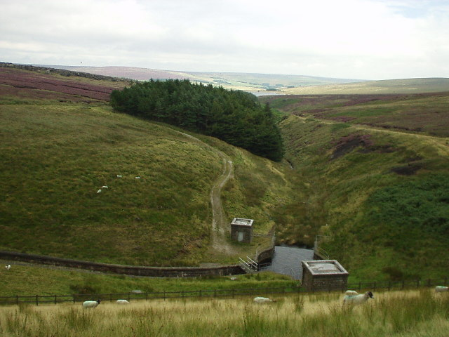 Clough below Gorple Upper Reservoir dam
