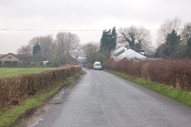 Looking down Lancaster Road into Scronkey.
