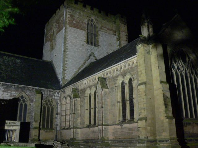 St. Asaph Cathedral at Night.