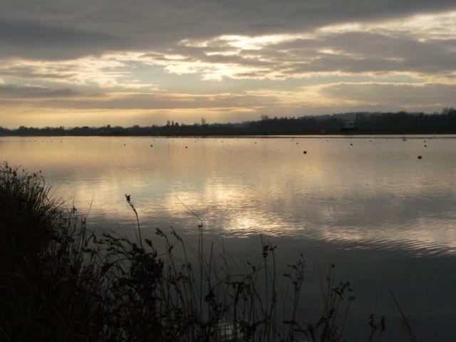 Dorney Lake at Dawn in January.