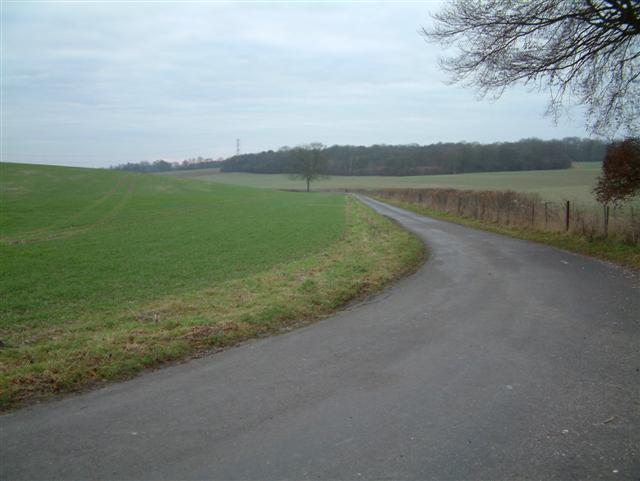 The Road to Binley past Longbarrow