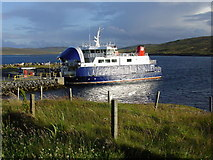 HU4563 : Whalsay Ferry at Laxo Ferry Terminal by Colin Park