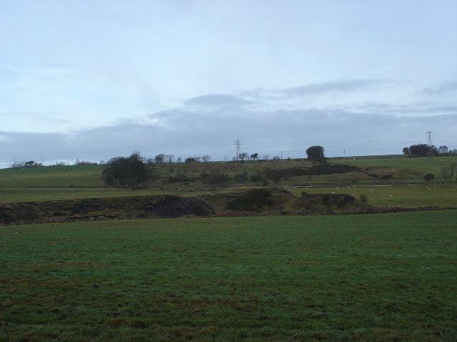 Coal tips near Bridgecastle, West Lothian