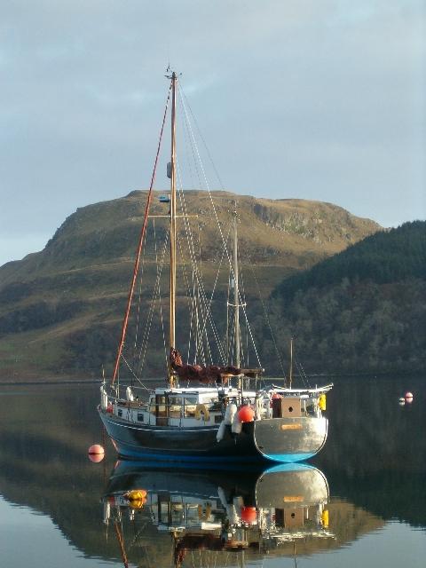 Yacht moored in Loch Craignish
