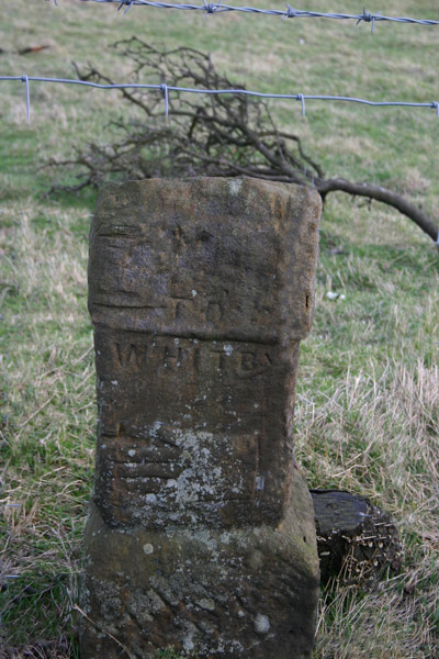 Old signpost to Whitby