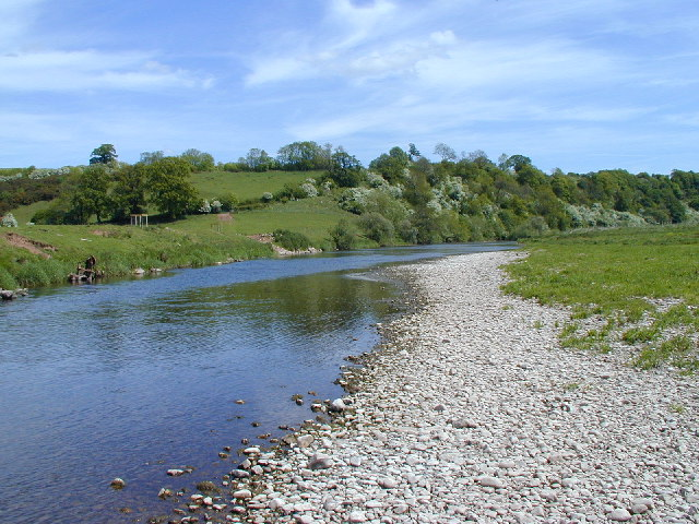The River Eden at Lower Winderwath.