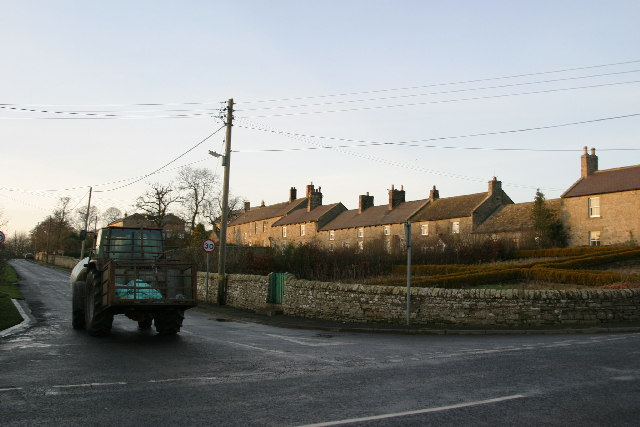 Colwell village from the east