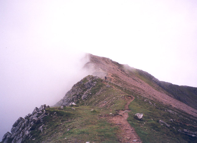 the north-east ridge of Mullach nan Coirean