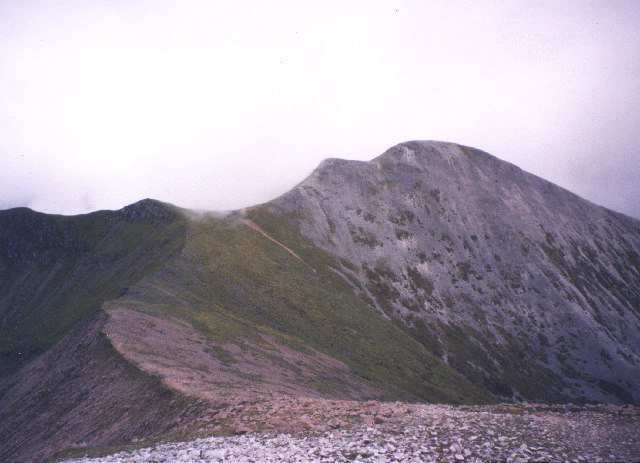 Stob Ban from the north-west