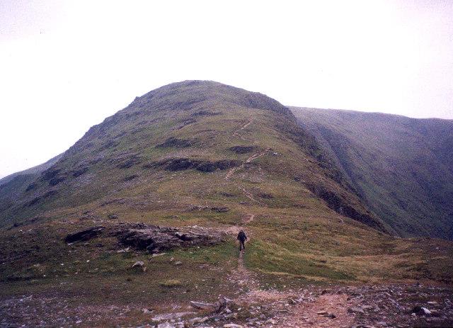 On the col below Beinn Laoigh (Ben Lui)