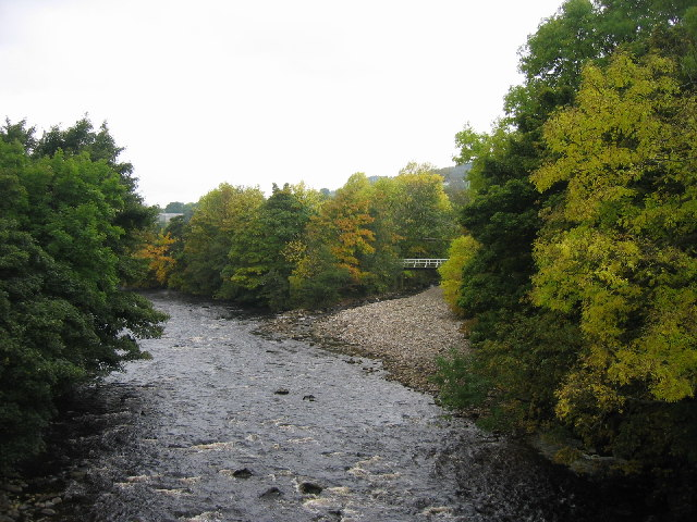 Confluence of the River Tees and Hudeshope Beck
