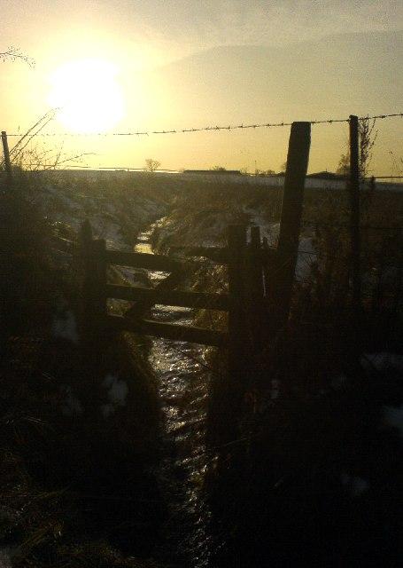 Field drain at Greenhill, Methven