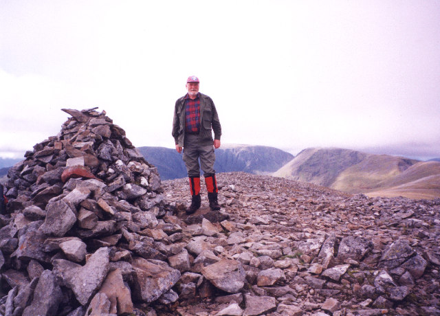 The summit cairn on Carn Liath.
