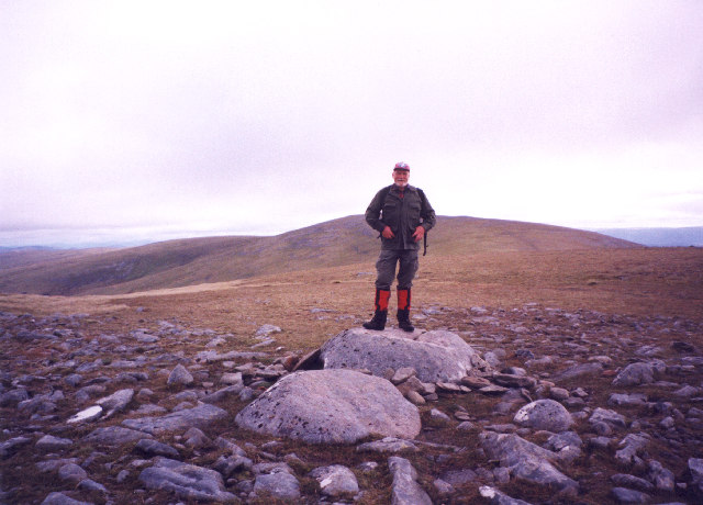 On the 'summit' of Meall an t-Snaim.