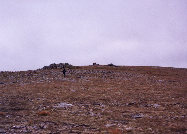 Approaching the summit of Sron a'Choire