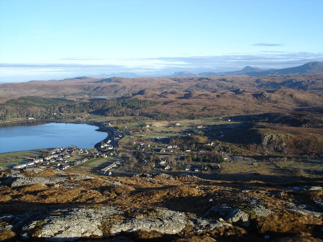 Poolewe from Cliff Hill