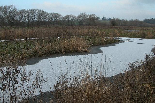 Frozen pool beside the River Wye