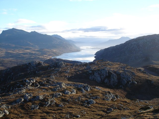 View of Loch Maree from Cliff Hill