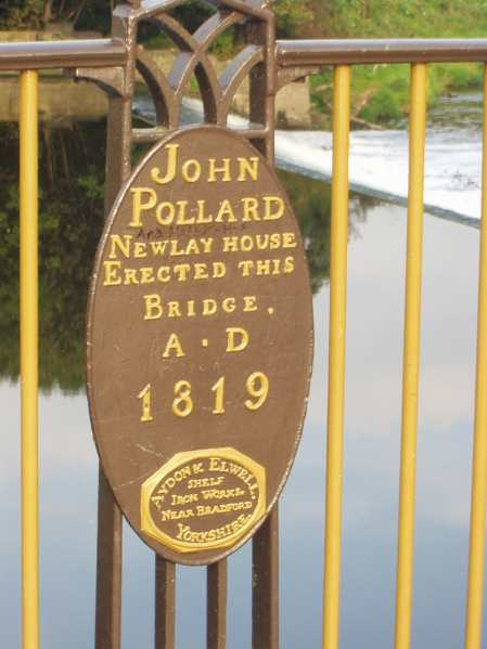Newlay Bridge Plaque, Horsforth