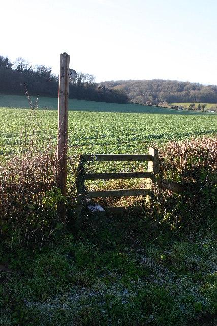 Footpath near Carrow Hill