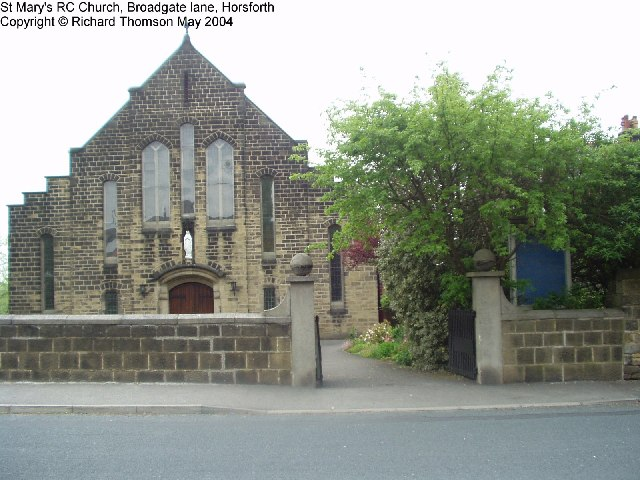 St Mary's RC Church, Broadgate Lane, Horsforth