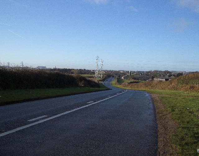 A5087 Towards Roosecote Farm