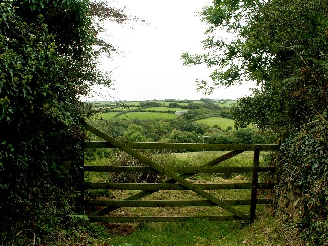Farm gate at Gluvian