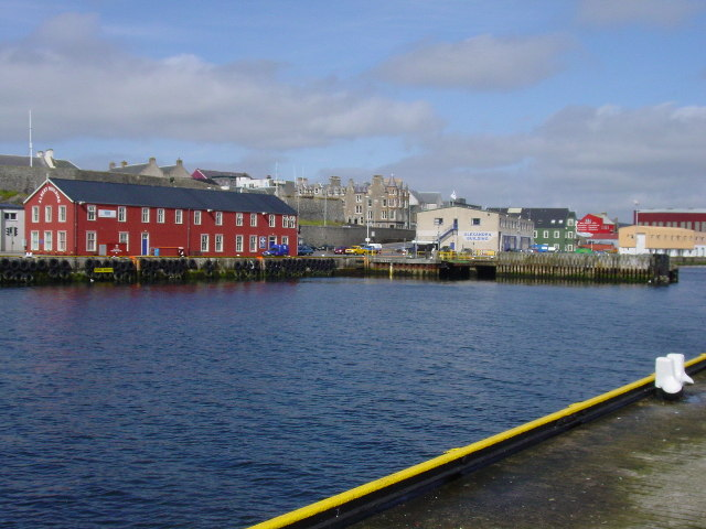 The harbour at Lerwick from Victoria Pier