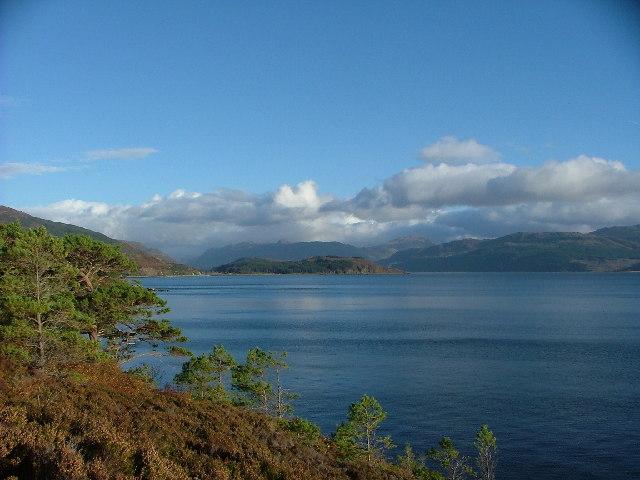 Ard Hill across Balmacara Bay, Loch Alsh, Scotland