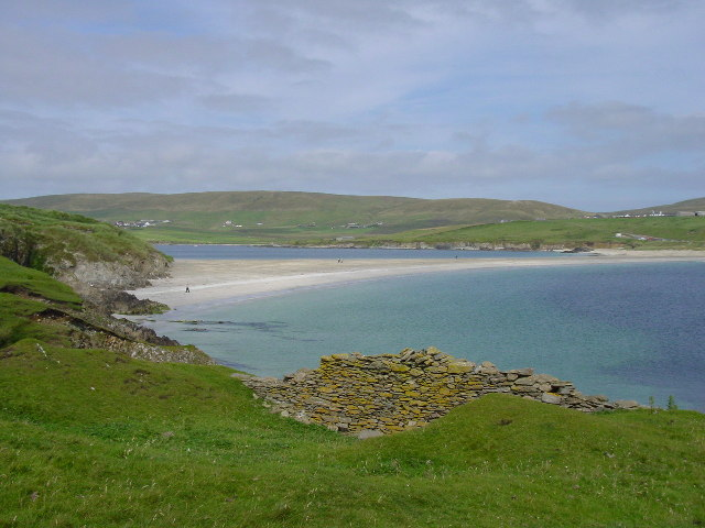 The tombolo at St Ninian's Isle