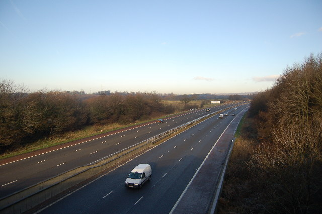 M6 Motorway looking north just outside Scorton.