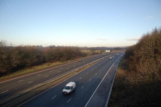 M6 Motorway looking north just outside Scorton.