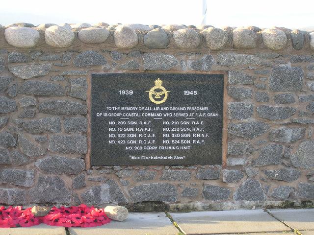 RAF Memorial, Ganavan Bay CU