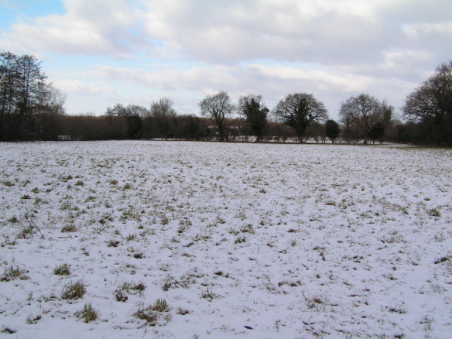 Arable field in snow