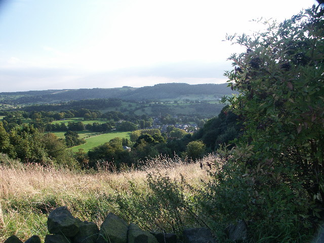 Ashover from the hill top