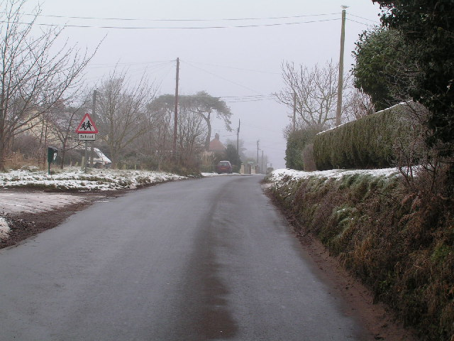 Entering Wenhaston Village