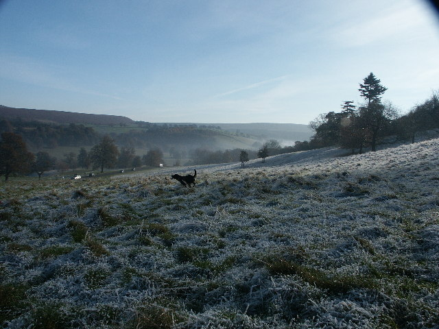 Looking down the valley away from Chatsworth