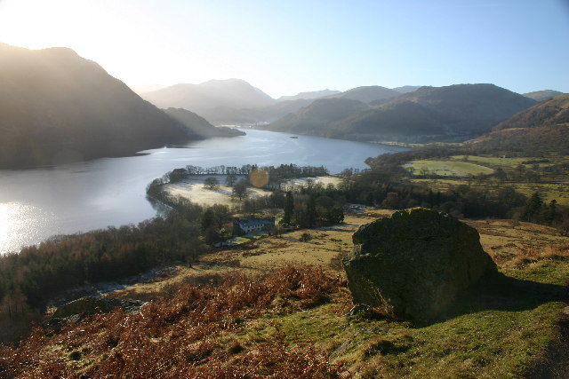 Aira Point and Ullswater from Footpath, Green Hill